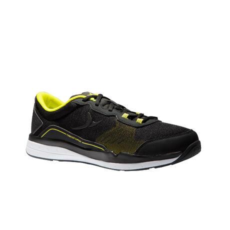 uk availability 645bb 5b988 500 Cardio Training Fitness Shoes - Black Yellow   Domyos by Decathlon