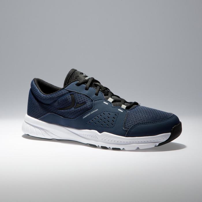 Chaussures fitness cardio-training 100 homme noir et bleu - 1341235