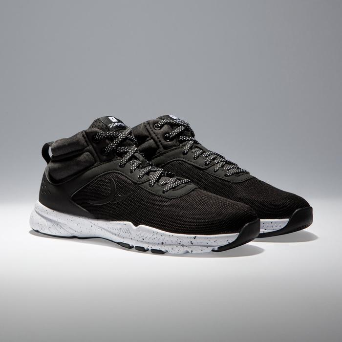 Chaussures fitness cardio-training 100 mid femme noir - 1341247