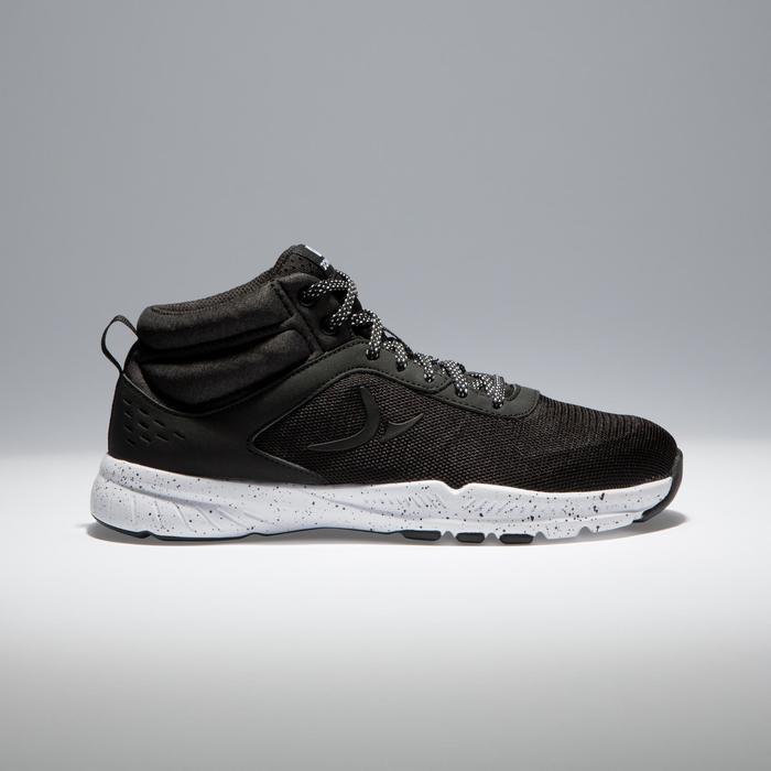 Chaussures fitness cardio-training 100 mid femme noir - 1341250