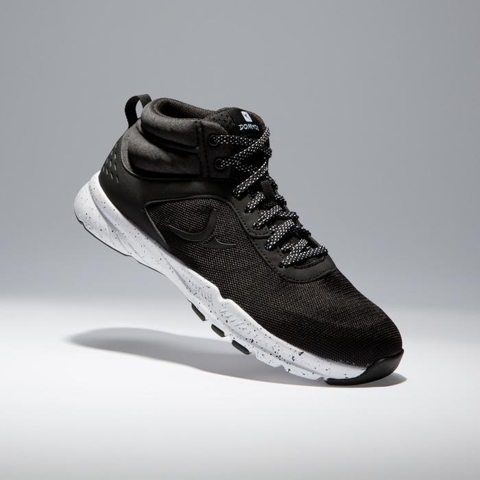 Chaussures fitness cardio-training 100 mid femme noir - 1341253
