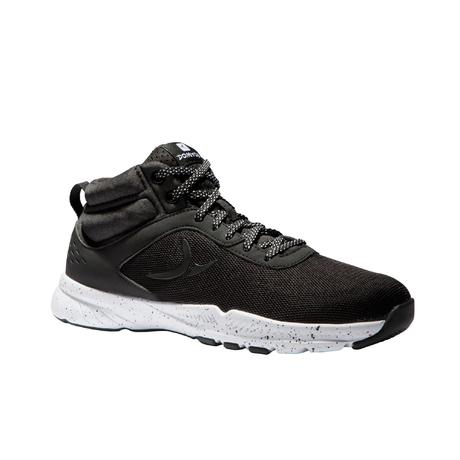 Chaussures  fitness cardio training 100 mid Femme  noir | Domyos by