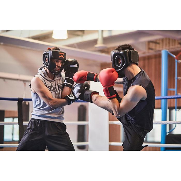 gants de boxe 300 blancs , gants d'entraînement débutant homme ou femme - 1341333