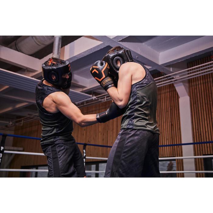 Gants de boxe 500  noir/orange, gants pour boxeur confirmés homme et femme - 1341334