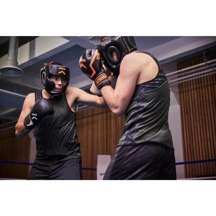 Gants de boxe 500  noir/orange, gants pour boxeur confirmés homme et femme - 1341335