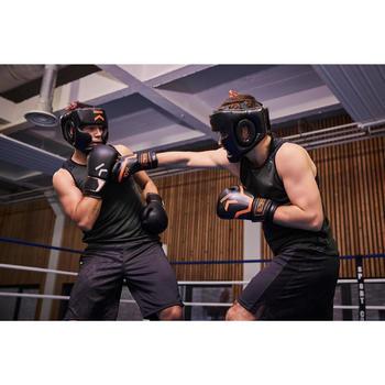Gants de boxe 500  noir/orange, gants pour boxeur confirmés homme et femme - 1341336