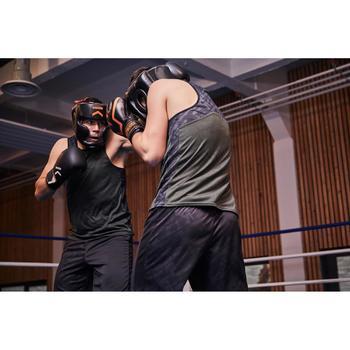 Gants de boxe 500  noir/orange, gants pour boxeur confirmés homme et femme - 1341337
