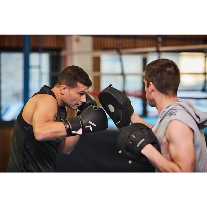 Gants de boxe 500  noir/orange, gants pour boxeur confirmés homme et femme - 1341354