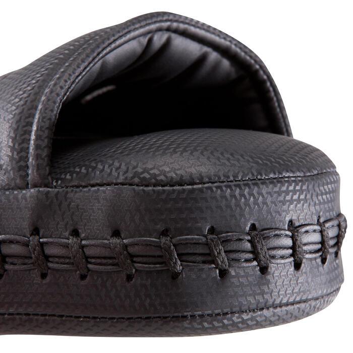 Gebogen stootkussen zwart voor Engels boksen, kickboksen, thaiboksen