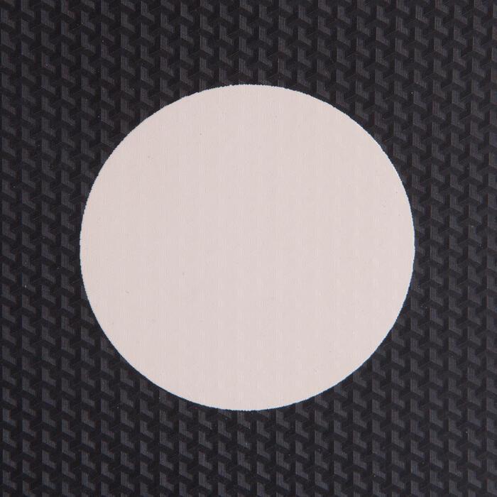 Gebogen stootkussens 100 zwart