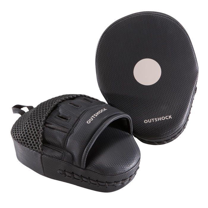 100 Curved Boxing Punch Mitts - Black