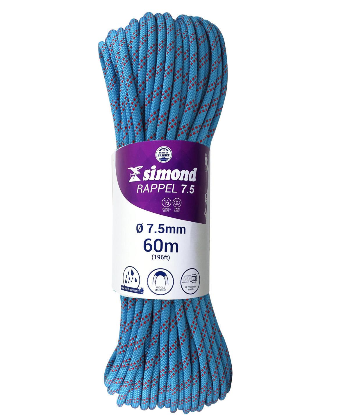 corde rappel 7.5 60m bleu simond 2018