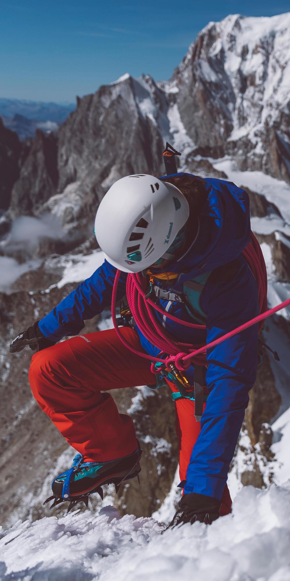 corde pour faire face à la glace