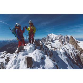 Gewatteerde herenjas alpinisme anijsgroen & kosmosblauw