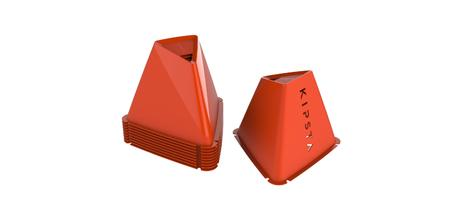Pqt. de 6 conos Essential 15 cm naranja