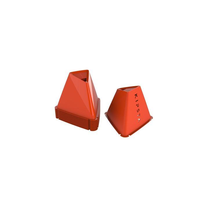 Trainingskegel Essential 15cm 6er-Set orange