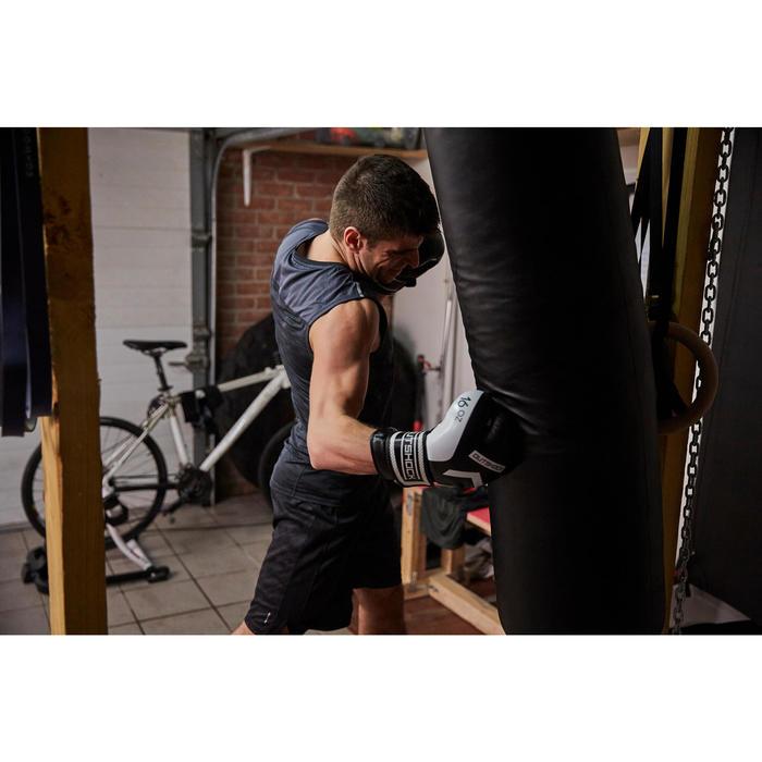 gants de boxe 300 blancs , gants d'entraînement débutant homme ou femme - 1341531