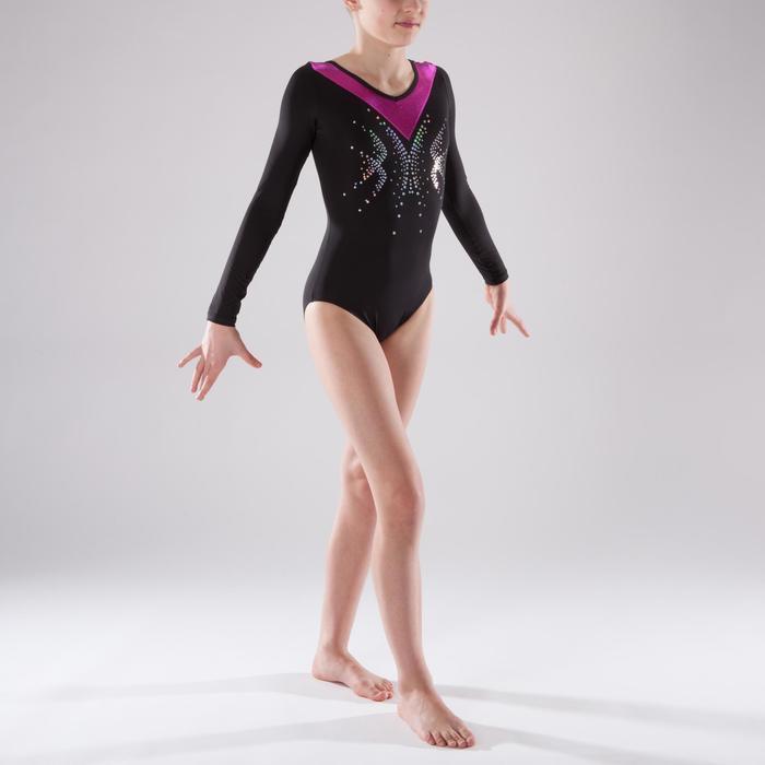 Justaucorps manches longues Gymnastique Féminine sequins - 1341545