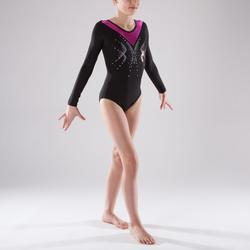 Justaucorps manches longues Gymnastique Féminine sequins