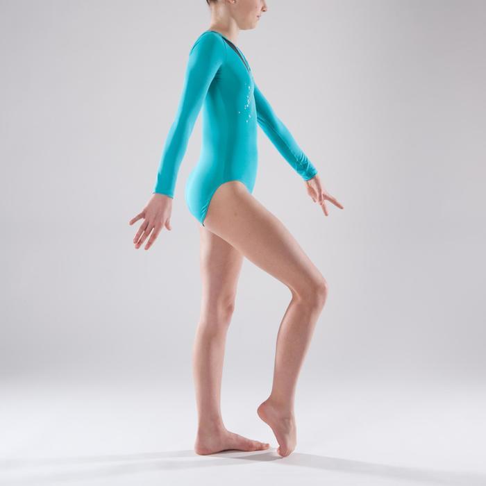 Justaucorps manches longues Gymnastique Féminine sequins - 1341546