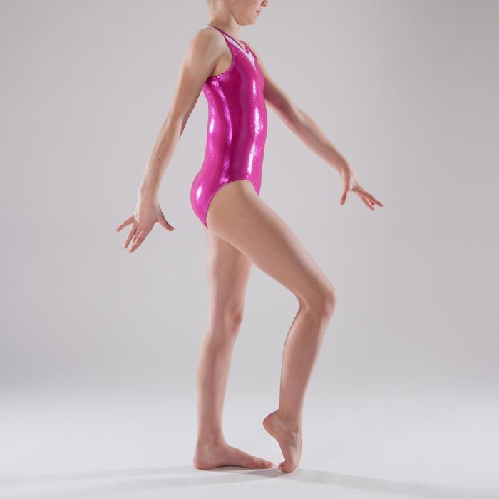 Justaucorps sans manches Gym Féminine (GAF) paillette/strass/voile - 1341557