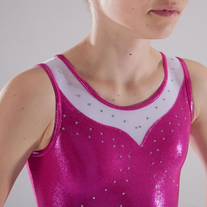 Justaucorps sans manches Gym Féminine (GAF) paillette/strass/voile - 1341561
