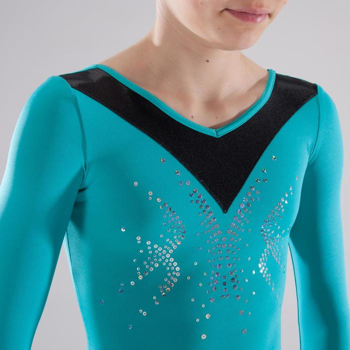 Justaucorps manches longues Gymnastique Féminine sequins - 1341562