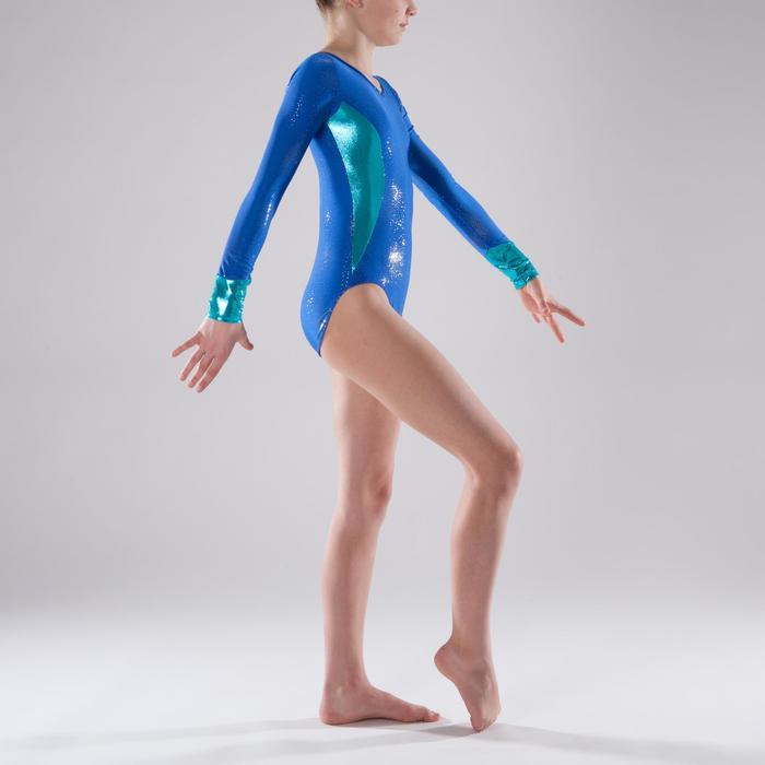 Justaucorps manches longues Gymnastique Féminine (GAF) Bleu 520