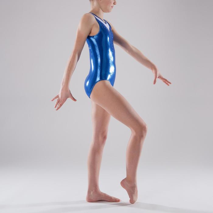 Justaucorps sans manches Gym Féminine (GAF) paillette/strass/voile - 1341617