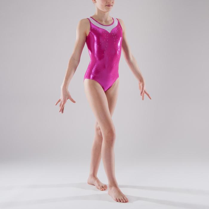 Justaucorps sans manches Gym Féminine (GAF) paillette/strass/voile - 1341625
