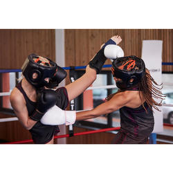 Scheenbeschermer PU savate, martial arts, full contact zwart