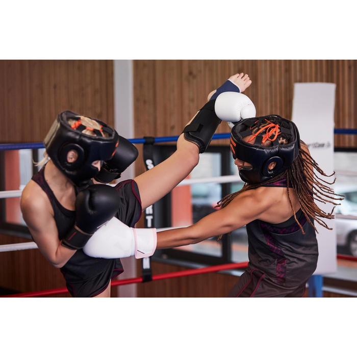 Scheenbeschermer PU savate, martial arts, full contact zwart