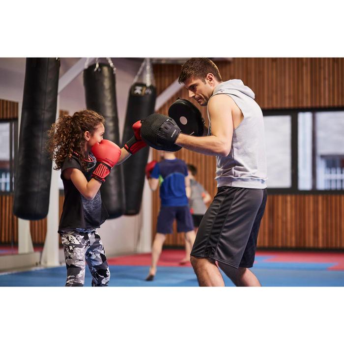 GANTS DE BOXE 100 ROUGES, boxeur débutant homme ou femme - 1341800