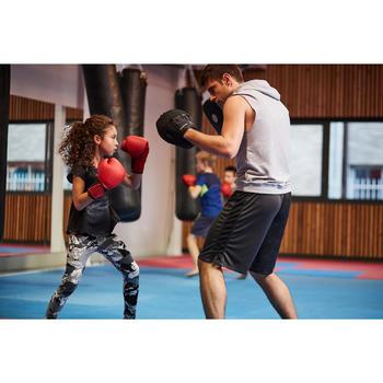 GANTS DE BOXE 100 ROUGES, boxeur débutant homme ou femme - 1341803