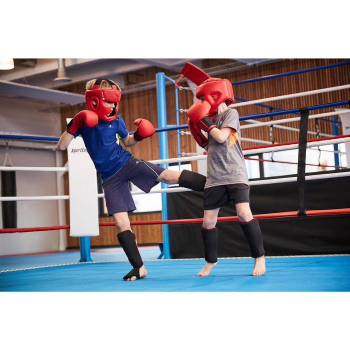 Fuß-/Schienbeinschoner Kickboxen Muay Thai 100 Einsteiger