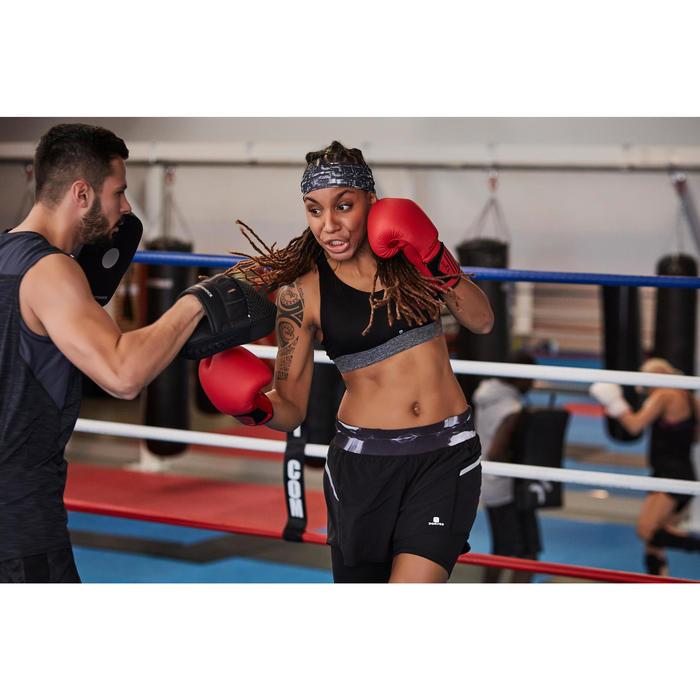 GANTS DE BOXE 100 ROUGES, boxeur débutant homme ou femme - 1341810