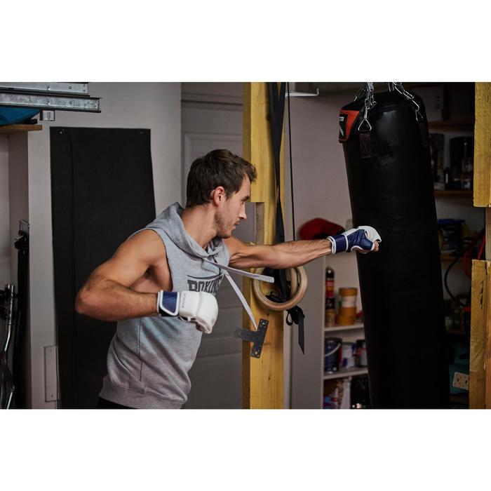 Kampfhandschuhe 100 weiß/blau