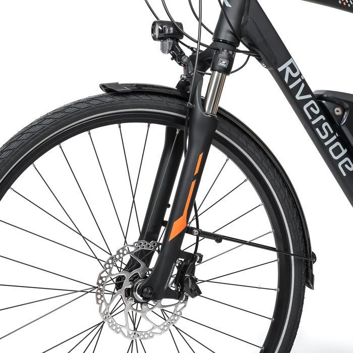"E-Bike 28"" Trekkingrad Riverside 700 Herren Peformance CX 500Wh anthrazit/orange"