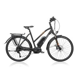 "E-Bike 28"" Trekkingrad Riverside 700 Damen Performance CX 500Wh anthrazit/orange"