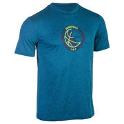 ADULT BASKETBALL T-SHIRT TS FAST M BLUE