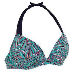 女性托高集中泳衣 ELENA 棕梠綠