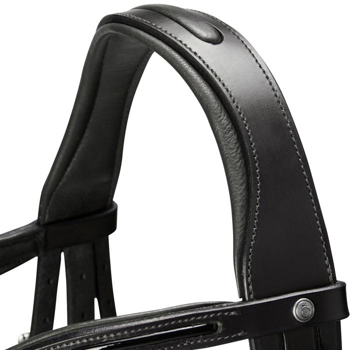 Bridon équitation 580 GLOSSY noir - taille poney