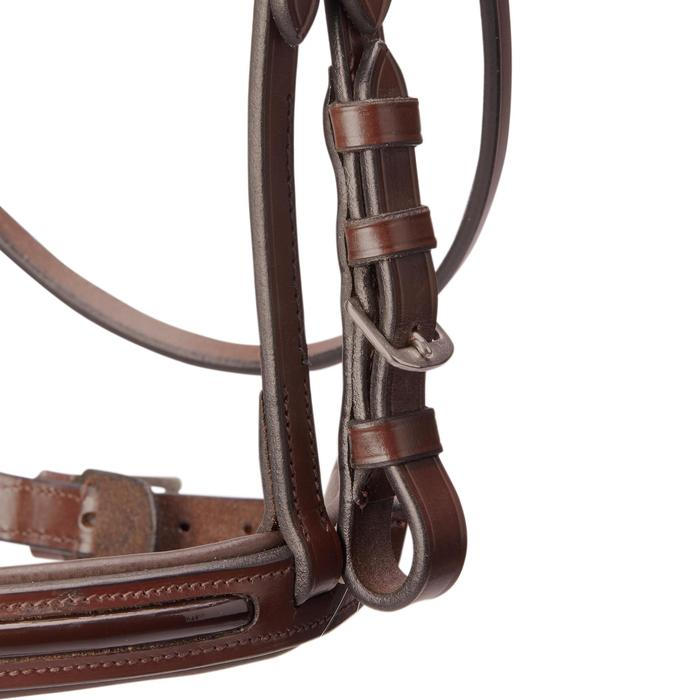 Bridon équitation 580 GLOSSY marron - taille poney