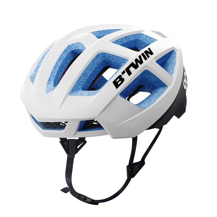 Fahrradhelm Rennrad Aerofit 900 Team U19 blau/weiß