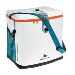 Koeltas voor kamperen en wildkamperen in de natuur compact 26 liter wit