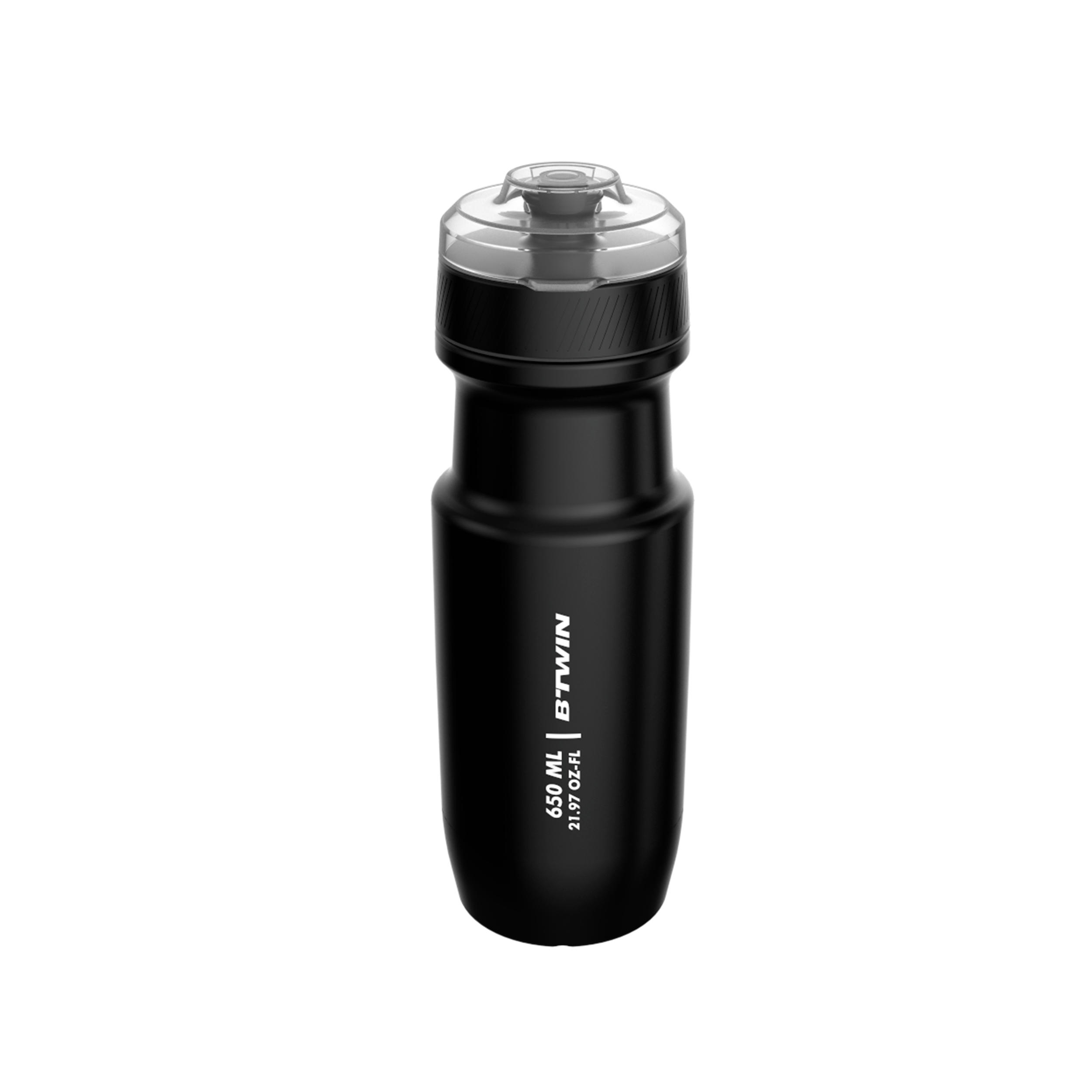 Cycling Water Bottle with Cap 22 oz - Black