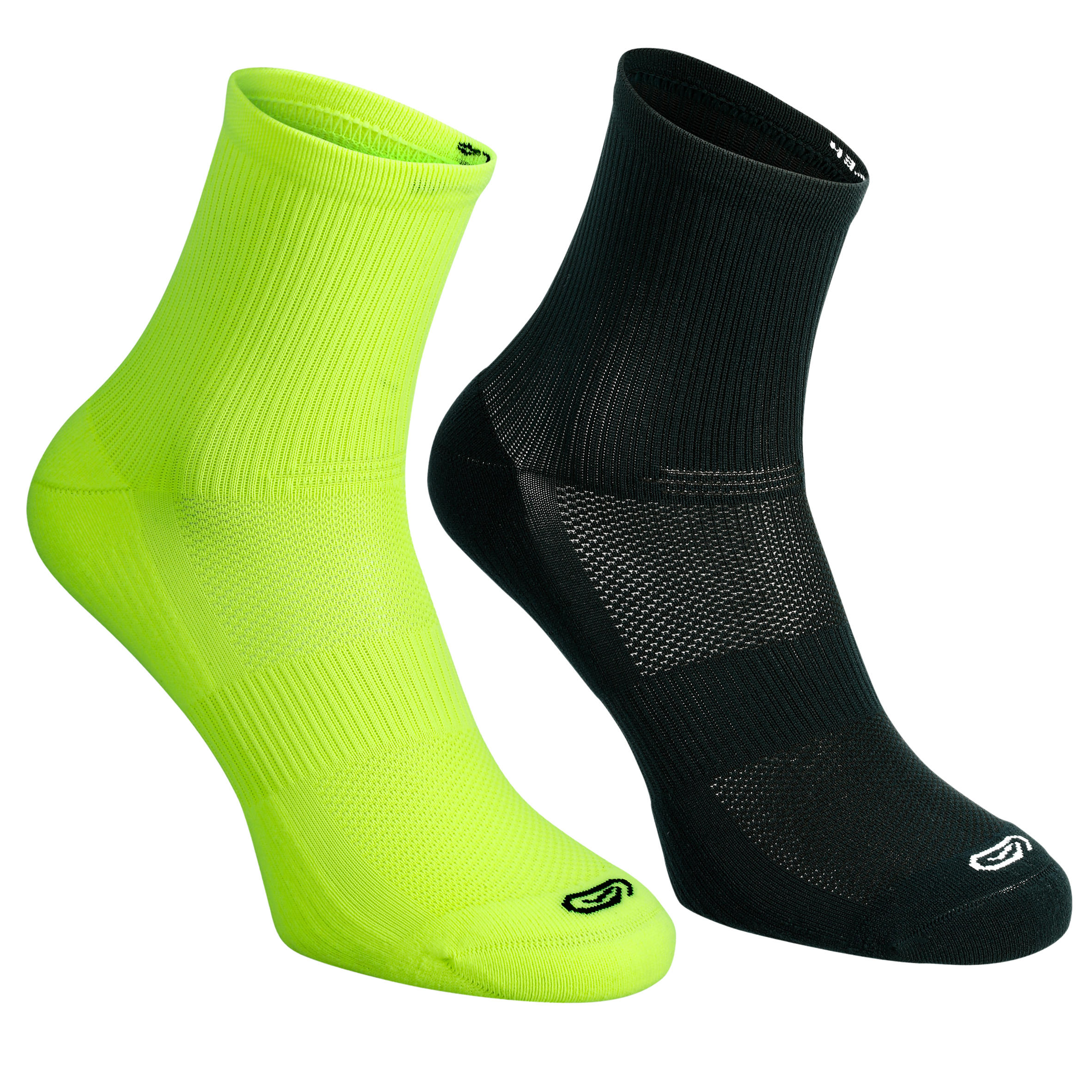 Pqt. de 2 calcetines de atletismo para niños confort tobillo alto AM fluo NG