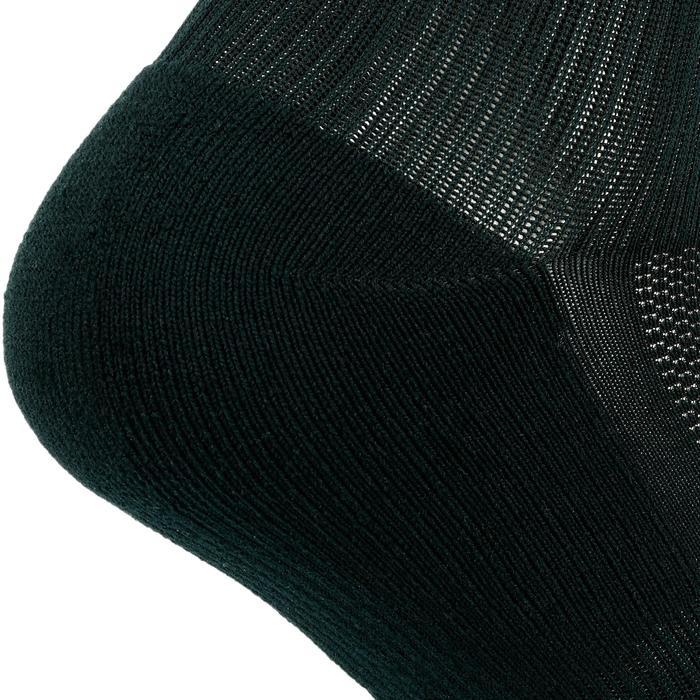 Loopsokken Comfort voor kinderen, hoog, set van 2 paar, fluogeel zwart
