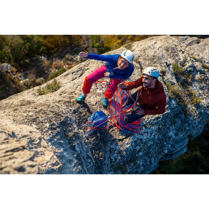 Abseiling Rock Climbing Half Rope - Orange 8.6 mm x 50 m