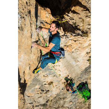 男款運動機能彈性攀岩長褲-暴風灰
